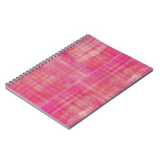 Rosa randar anteckningsbok med spiral