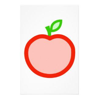Rosa röd äppleanimeringillustration brevpapper