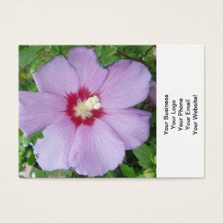 Rosa röda Sharon lilor Visitkort