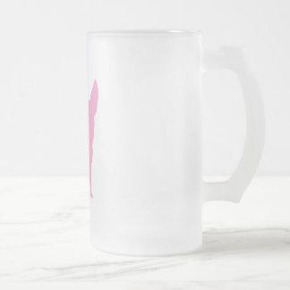 Rosa rolig Chihuahua Frostat Ölglas