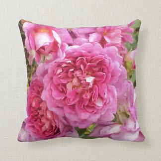 Rosa ros blommigt kudde