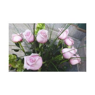 Rosa ros canvastryck
