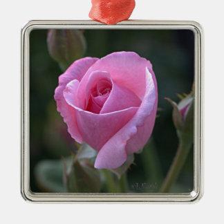 Rosa ros för moster Dorothys Julgransprydnad Metall