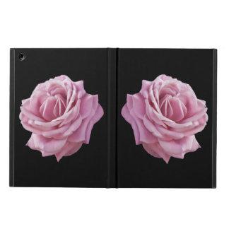 Rosa ros på svart iPad air skydd