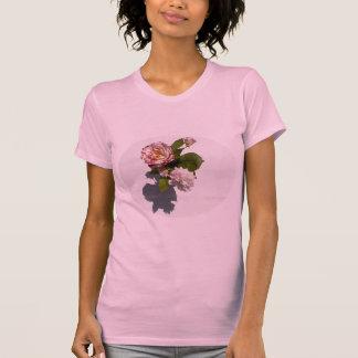Rosa ros på T-tröja T Shirt