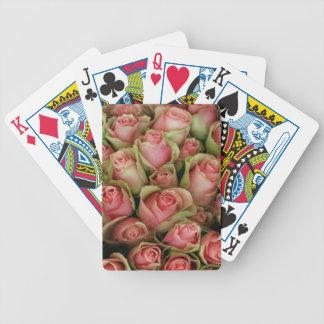 Rosa ros spelkort