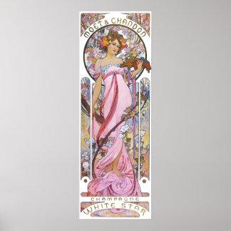 Rosa rosa gudinna för vintage poster