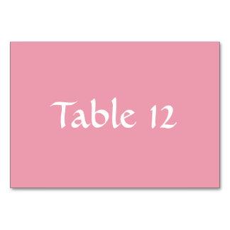 Rosa rosa mall Tablecard Bordsnummer
