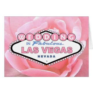 Rosa rosBRÖLLOP i det Las Vegas kortet Hälsningskort
