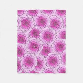 Rosa rosfilt fleecefilt