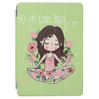 Rosa rosflickan älskar Yoga iPad Air Skydd
