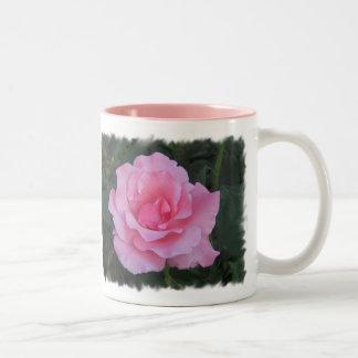 rosa roskaffemugg Två-Tonad mugg