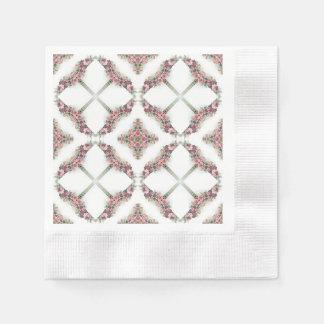 Rosa roskaleidoscopemönster pappersservett