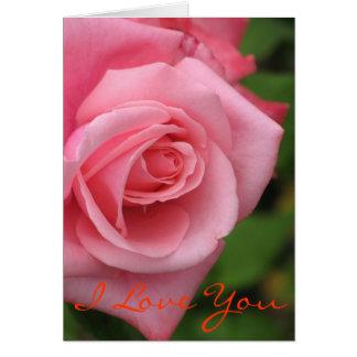 Rosa roskort hälsningskort