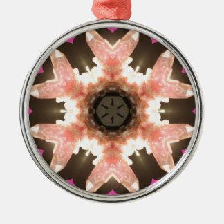 Rosa roskvartgnistra! julgransprydnad metall