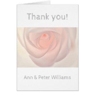 Rosa rosöga hälsningskort