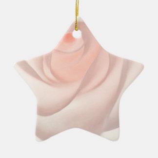 Rosa rosöga julgransprydnad keramik