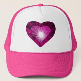 """Rosa rosor för hjärta""""hjärta"""" truckerkeps"""