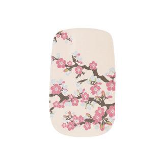 Rosa rosor för körsbärblommarSakura slyna) Nagel Decaler
