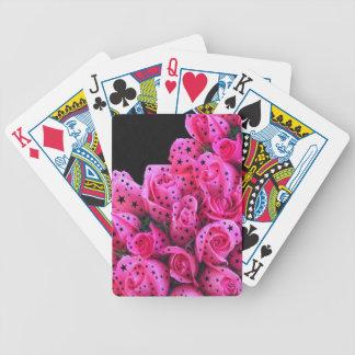 Rosa rosstjärnor spelkort