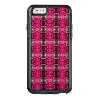 Rosa rött roligt alternativt blom- illusiontryck OtterBox iPhone 6/6s fodral