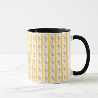 Rosa Seahorses med gult Mugg