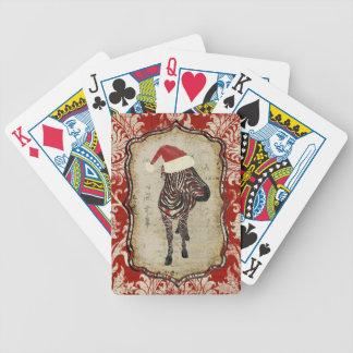 Rosa sebrajulkortdäck spelkort