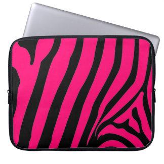 Rosa sebrarandlaptop sleeve laptopfodral