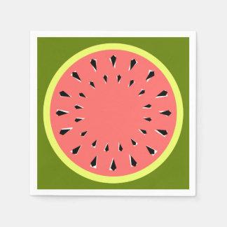 Rosa servettpapper för vattenmelon servett