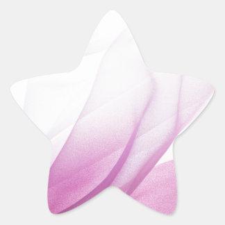 Rosa silke stjärnformat klistermärke