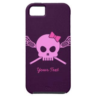 Rosa skalle- och beniphone case för beställnings- iPhone 5 Case-Mate fodral