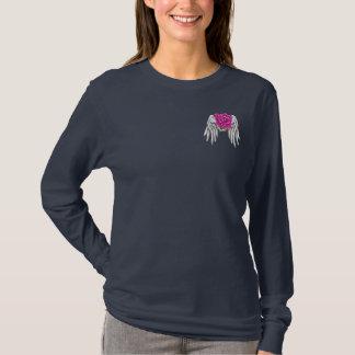 Rosa skjorta för bandöverlevandelångärmad t-shirt