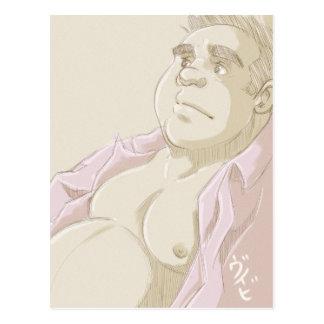 Rosa skjorta vykort