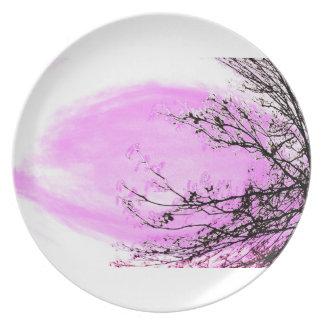 Rosa skog - middagen pläterar vid Jane Howarth Tallrik