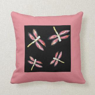 Rosa sländakonst för dans kudde