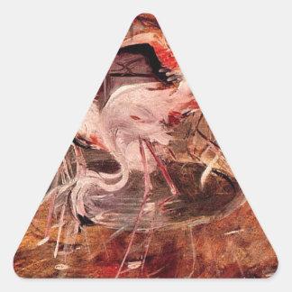 Rosa slott Ibis i Vesineten av Giovanni Boldin Triangelformat Klistermärke