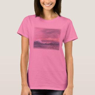 Rosa solnedgångskjorta tshirts
