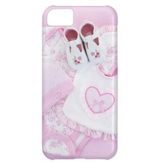 Rosa spädbarnkläder för baby shower iPhone 5C mobil skydd