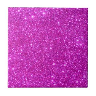 Rosa Sparkly glittermode belägger med tegel Liten Kakelplatta