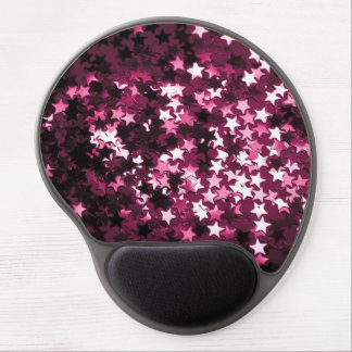 Rosa Sparkly stjärnor Gelé Mus-matta