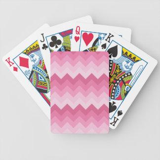 Rosa sparremönster spelkort
