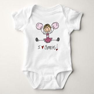 Rosa stick figurhejaklacksledareT-tröja och gåvor Tee Shirt