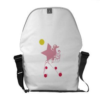 Rosa stjärna för magi kurir väska