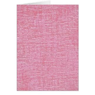 Rosa struktur för Chenilletyg Hälsningskort