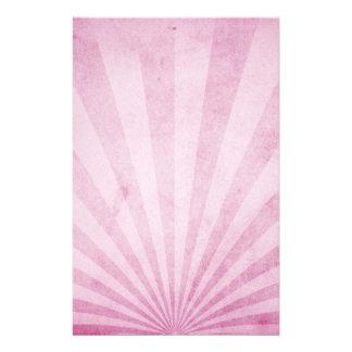 Rosa sunrays med en sjaskig struktur brevpapper