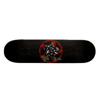 Rosa svart och Pentagram Skateboard Bräda 20,5 Cm