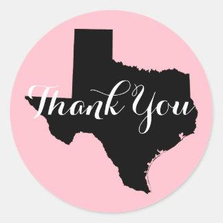 Rosa svartvita Texas som gifta sig tack Runda Klistermärken