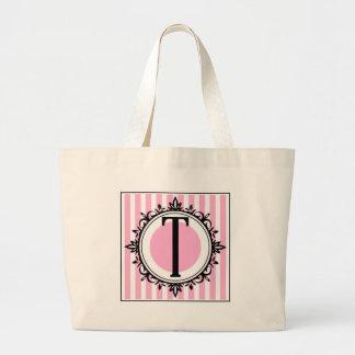 Rosa T- monogram Tote Bags