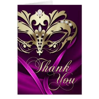 Rosa tackkort för guld- maskerad OBS kort