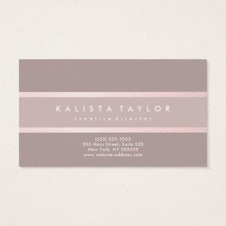Rosa taupe för elegant visitkort